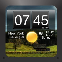 Nightstand Central Free - Alarm Clock with Weather and Photo Wallpapers